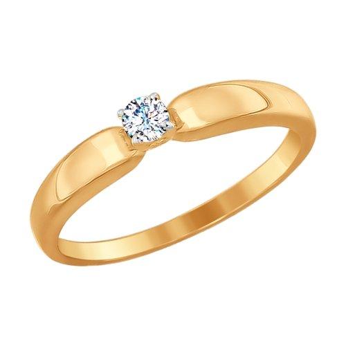 SOKOLOV Engagement Ring From Gold With Swarovski Zirconia