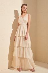 Trendyol Luminous Shir Detailed Evening & Prom Gown TPRSS20AE0063