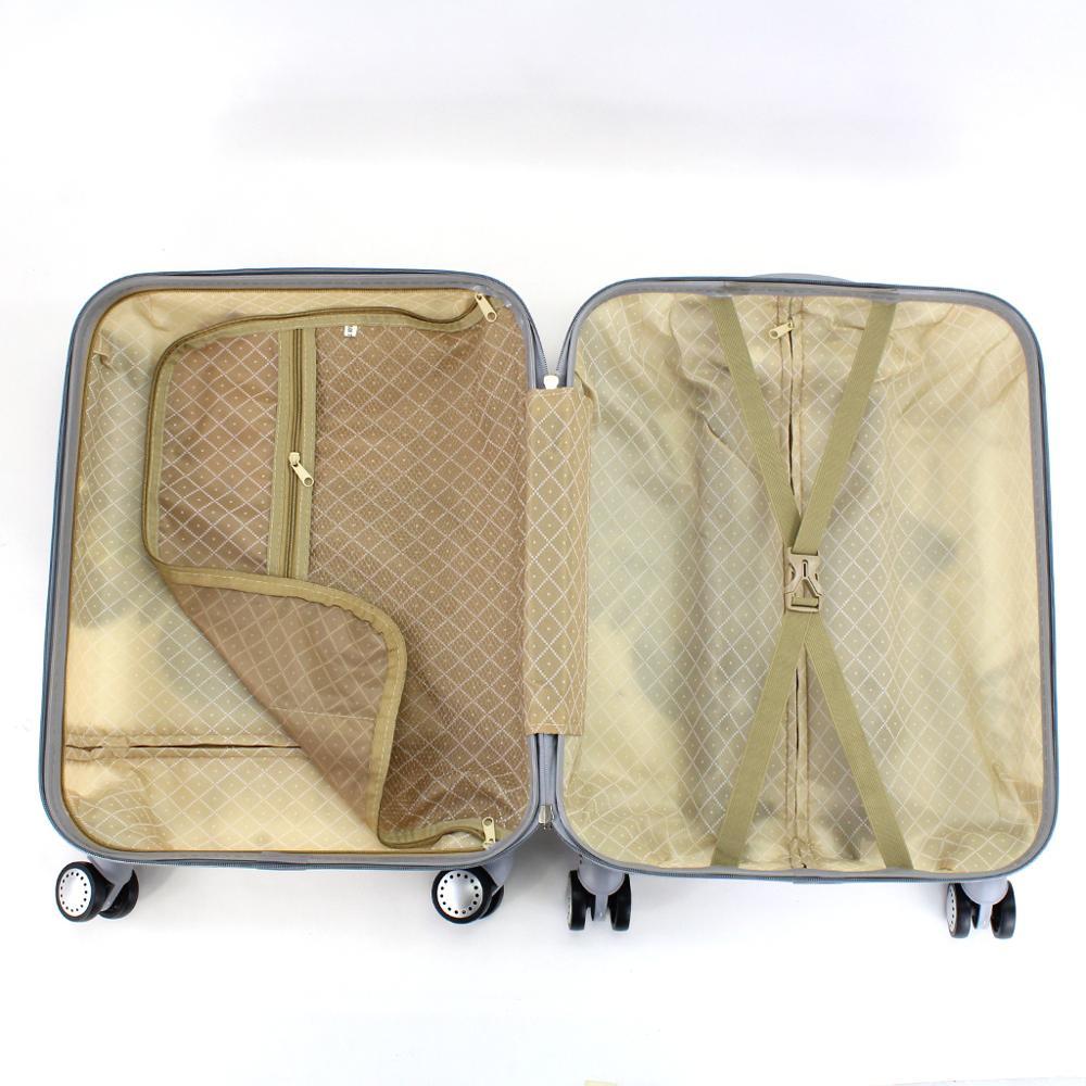 Valise cabine estampillée papillons 55cm rigide avec sac cosmétique - 5