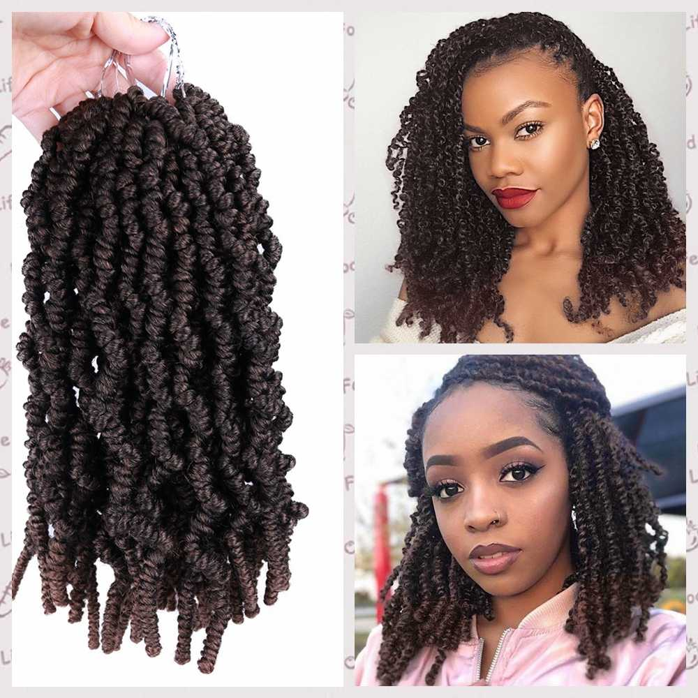 Wignee 15 Strands Passion Twist Crotchet Braiding Synthetic Hair Ombre Stretched Twists For Black Women Natural Hair Fluffy Wigs