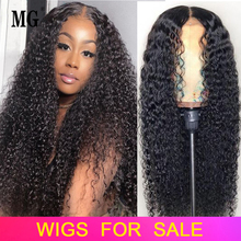 Wig Lace-Frontal Human-Hair Curly Transparent Pre-Plucked Natural Women Hairline Black