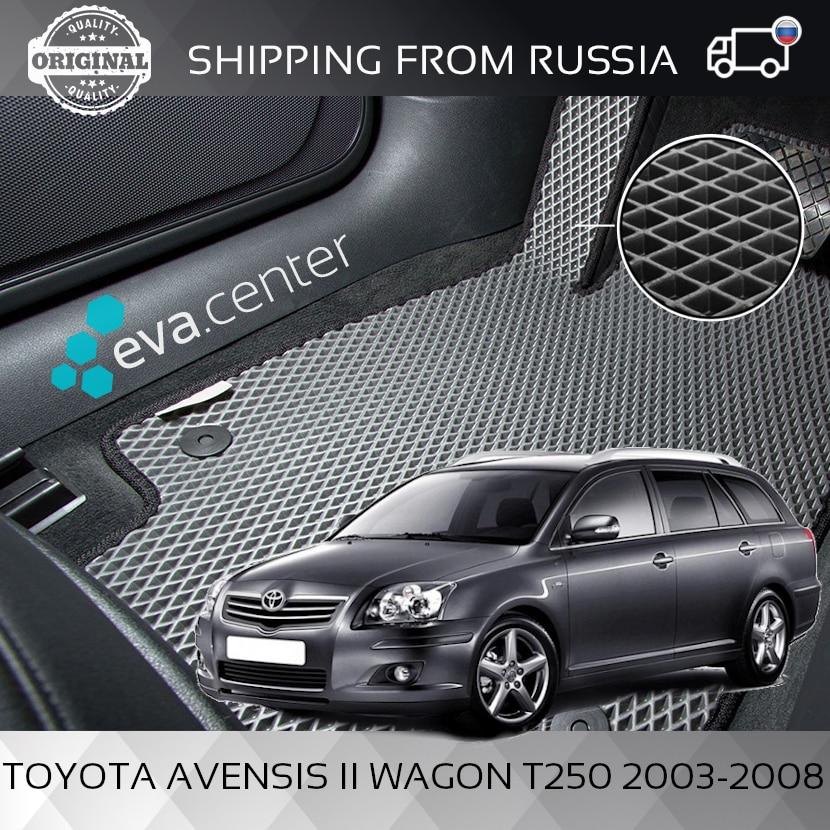 Car Mats EVA for Toyota Avensis II Wagon T250 2003 2008 set of 4x mats and jumper|Floor Mats| |  - title=