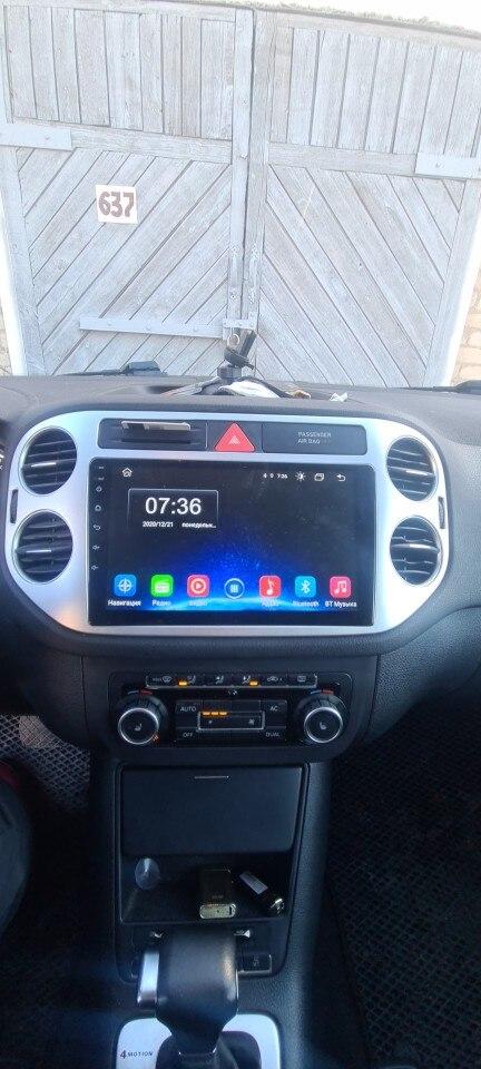 Android 10.0 rádio multimídia para Volkswagen Tiguan 2006-2016 Navegação gps