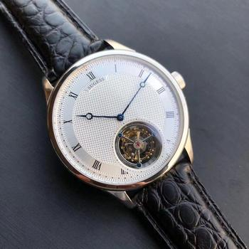 Sugess Genuine Seagull ST8230 Movement Men Watch Mechanical Vintage Wrist Dress Watch Elegant Genuine Leather Band 2020 2