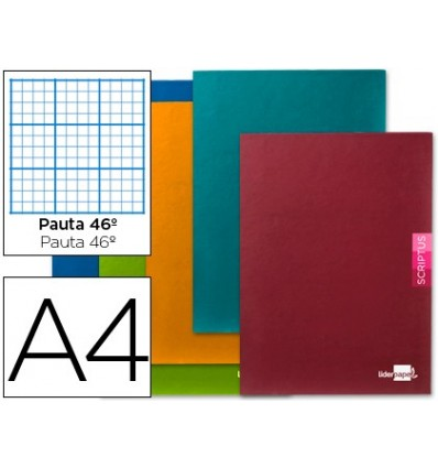 NOTEPAD LEADERPAPER SCRIPTUS A4 48 SHEETS 90G/M2 STRIPED N°46 5 PCs