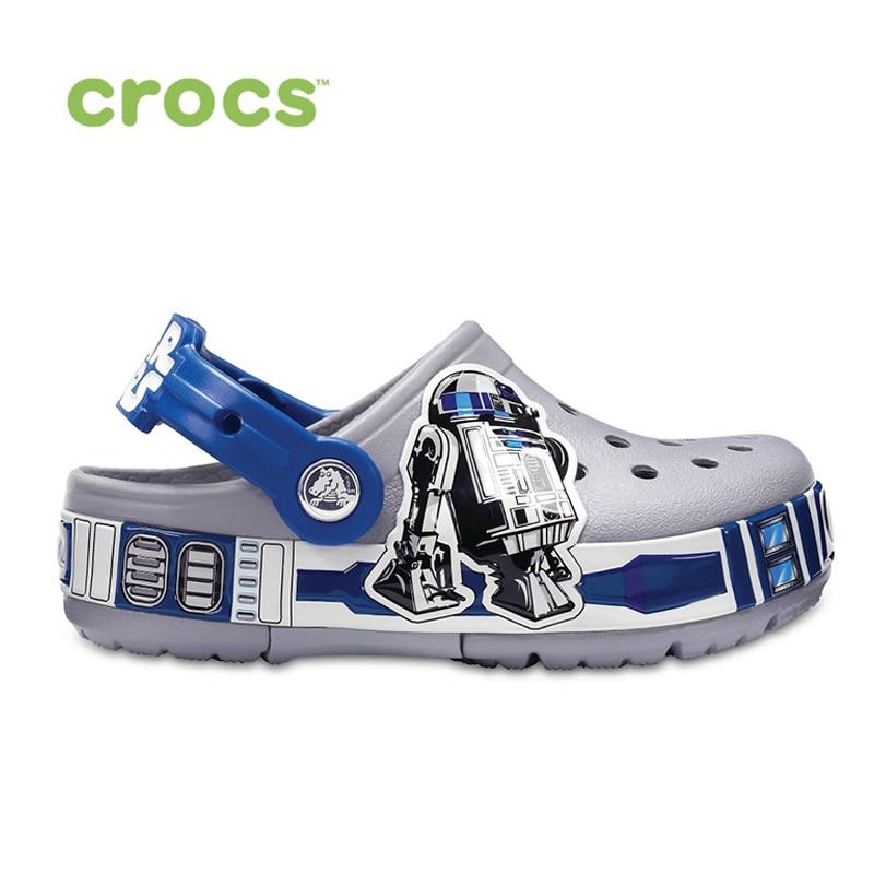 CROCS Crocband R2D2 Lights Clog K KIDS or boys/for girls, children, kids TmallFS shoes crocs crocband clog k