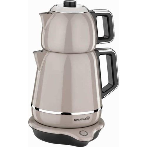 Korkmaz A332 Steel Tea Machine Turkish Electric Teapot, Tea Kettle Machine Maker, Samovar Turkish Tea Maker,Tea Urn