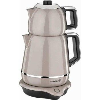 Korkmaz A332 Steel Tea Machine Turkish Electric Teapot, Tea Kettle Machine Maker, Samovar Turkish Tea Maker,Tea Urn fully automatic tea making black steam electric kettle glass machine