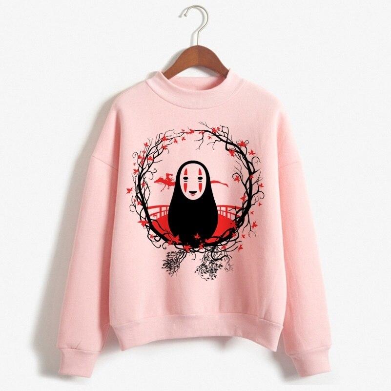 Japanese Anime No Face Hoodie Men Studio Ghibli Anime Spirit Away Sweatshirt Hooded Tops