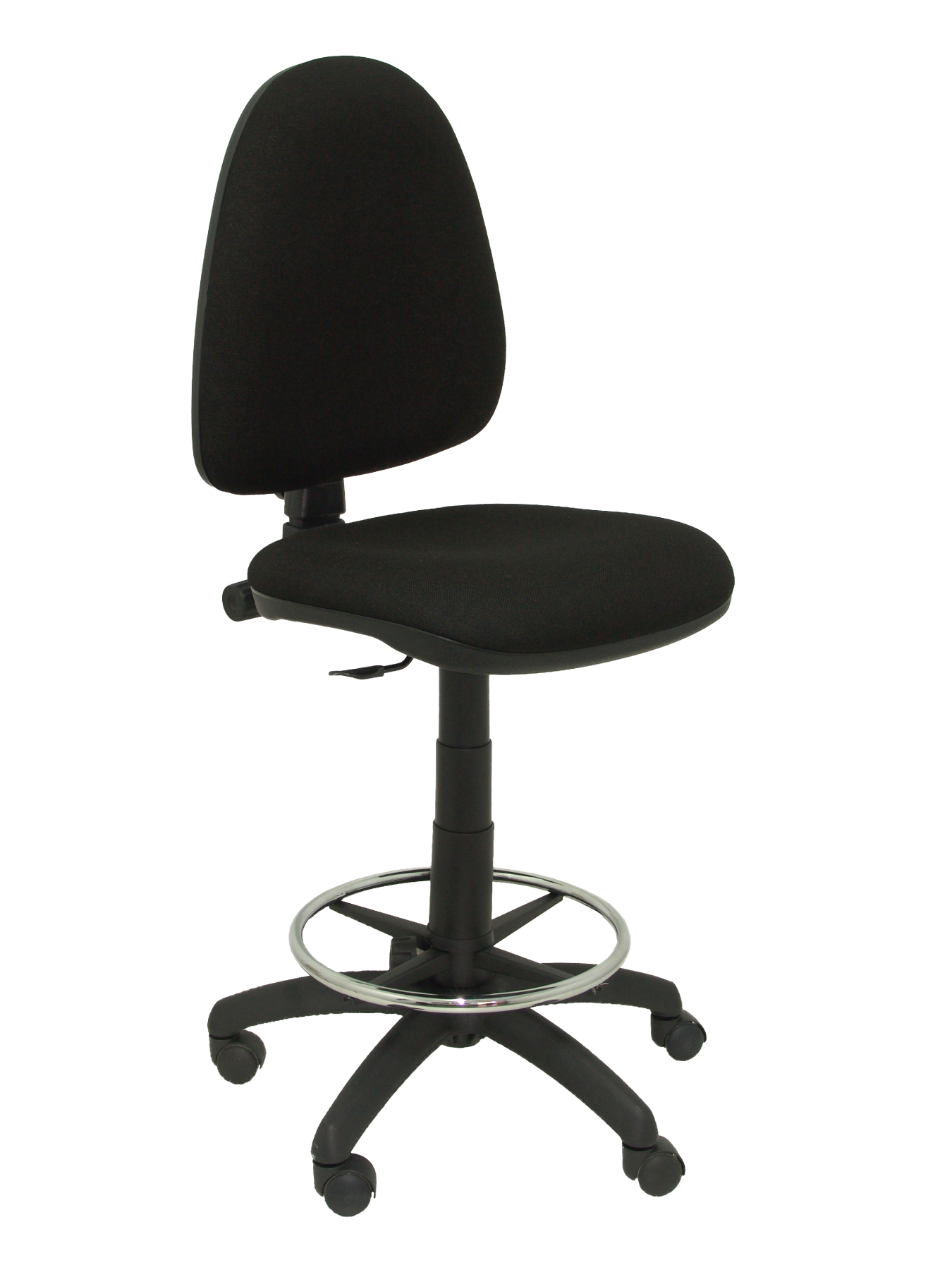 Stool Ergonomic With Permanent Contact's House Mechanism, Dimmable In High Altitude And Hoop Foot Pegs Chrome-up Seat And Res