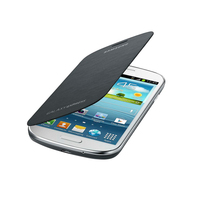 Capa de telefone celular folio samsung galaxy express i8730 cinza