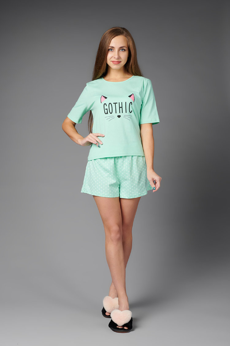 Atoff Home Pajamas Female ZHP 033/1 (mint With Peas)