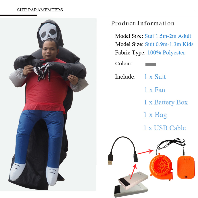 2018 Inflatable Halloween Costume For Adult Kids Fan T-rex Gorilla Sumo Cow Horse Cowboy Unicorn Dinosaur Inflatable Costume 4 (2)