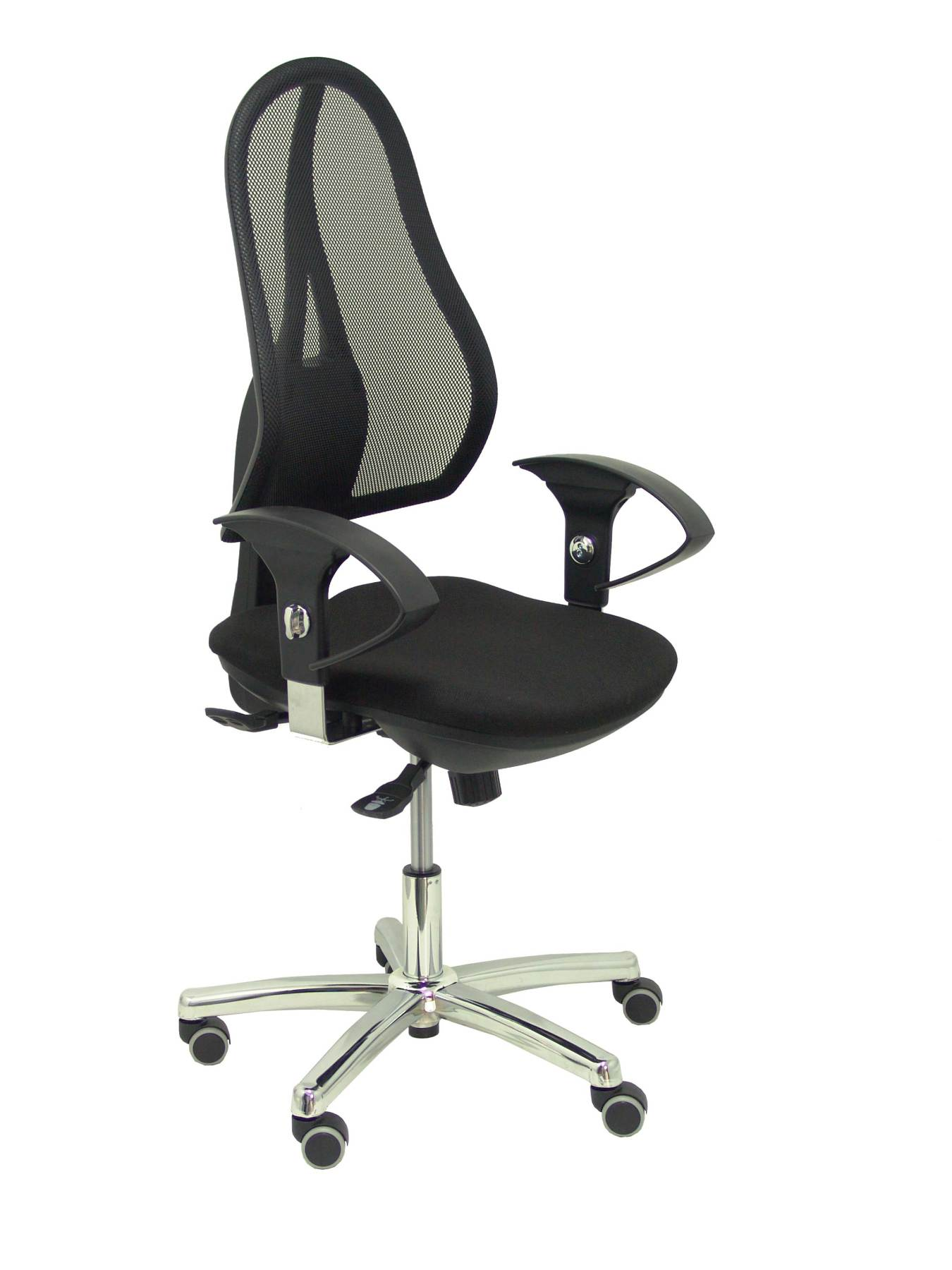 Ergonomic office chair with mechanism synchro  arms adjustable breathable mesh Backrest in black and|  - title=