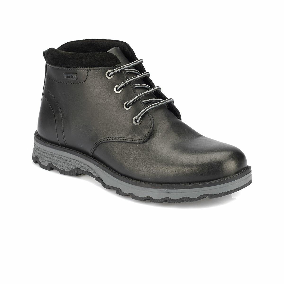 FLO ALBAN Black Men Boots KINETIX
