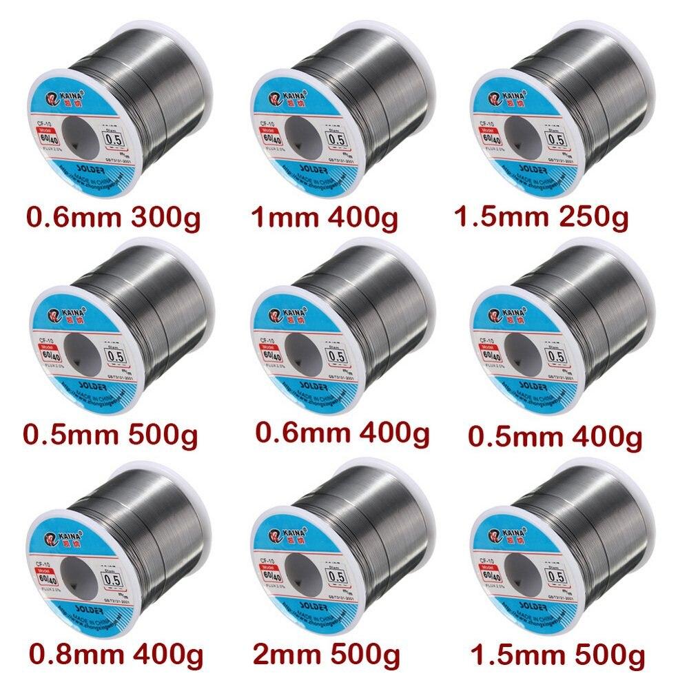 250g-500g 0.5/0.6/0.8/1.5/mm 2% FLUX Tin Lead 0.5-2mm Soldering Reel Tin Wire Melt Rosin Core Solder For Soldering Aluminum Roll