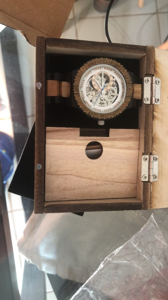 -- Madeira Masculino-caixas Relógio