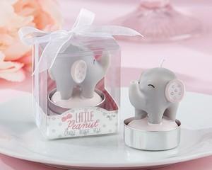 Lote de 20 Velas Bautizo Elefante Rosa En Caja Regalo Niña - Detalles y regalos para bodas, trajes de bautizos, cumpleaños