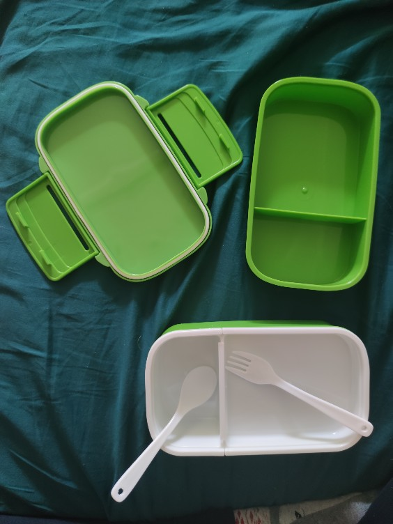 Double Layer Plastic Food Lunch Box photo review