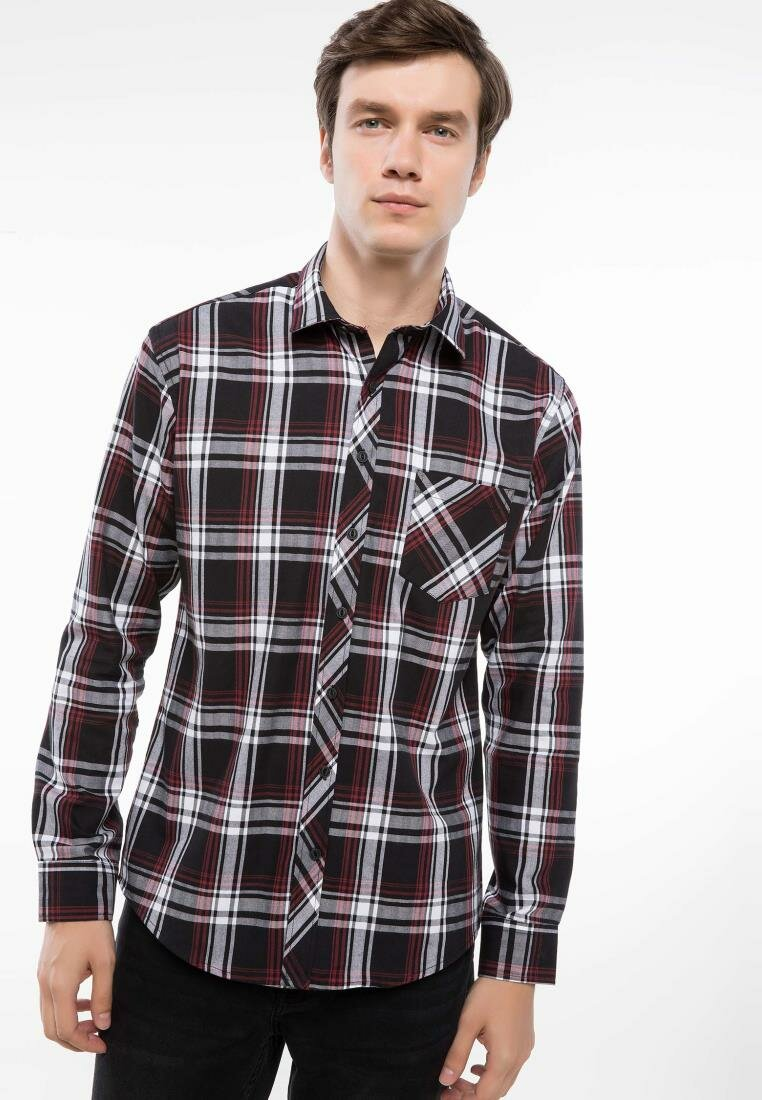 DeFacto New Autumn Man Fashion Long Sleeve Shirt Male Casual Plaid Comfort Blousers Men's Leisure Loose Shirts - I9206AZ18AU