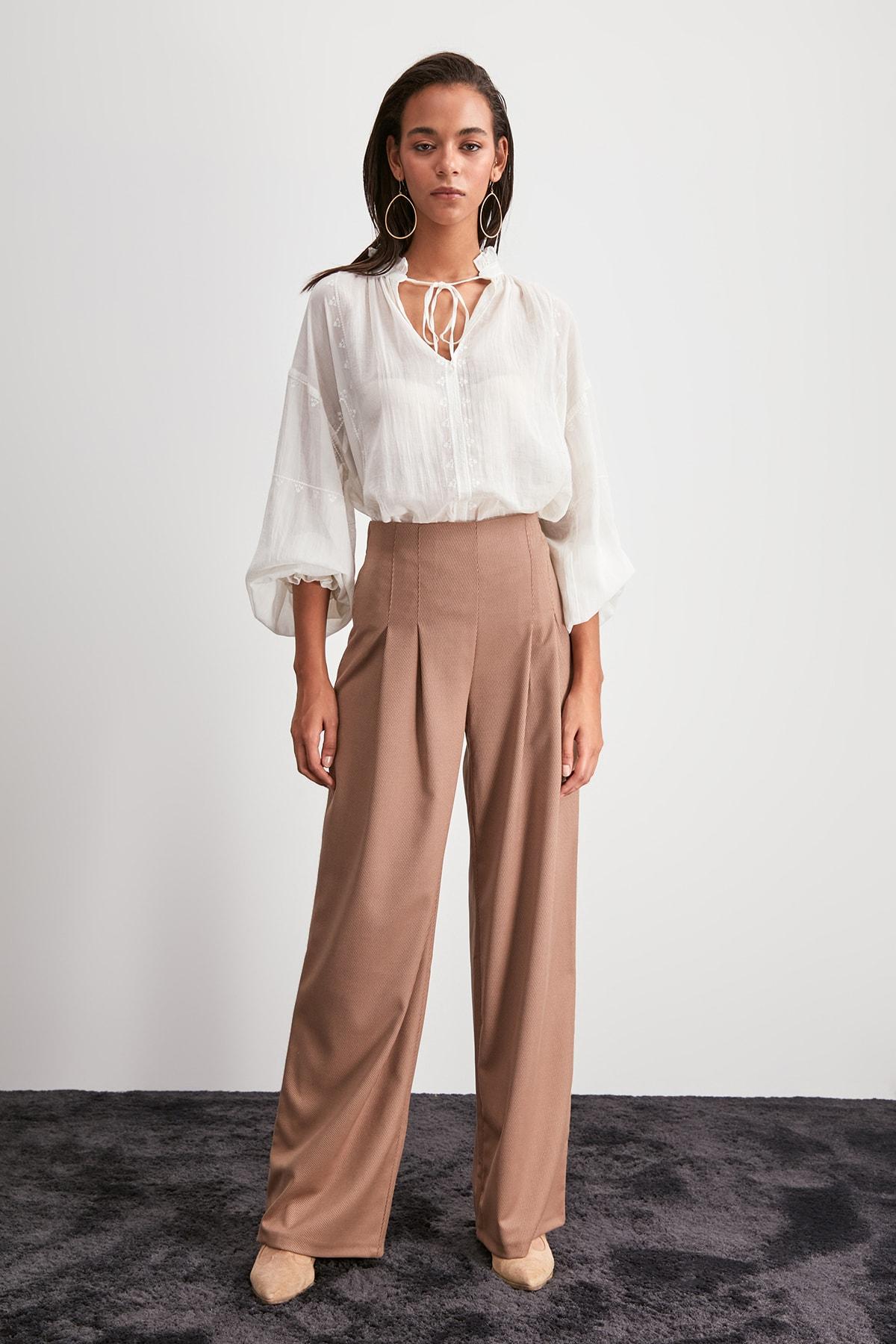 Trendyol Wide Bell-Bottomed Pants TWOAW20PL0606