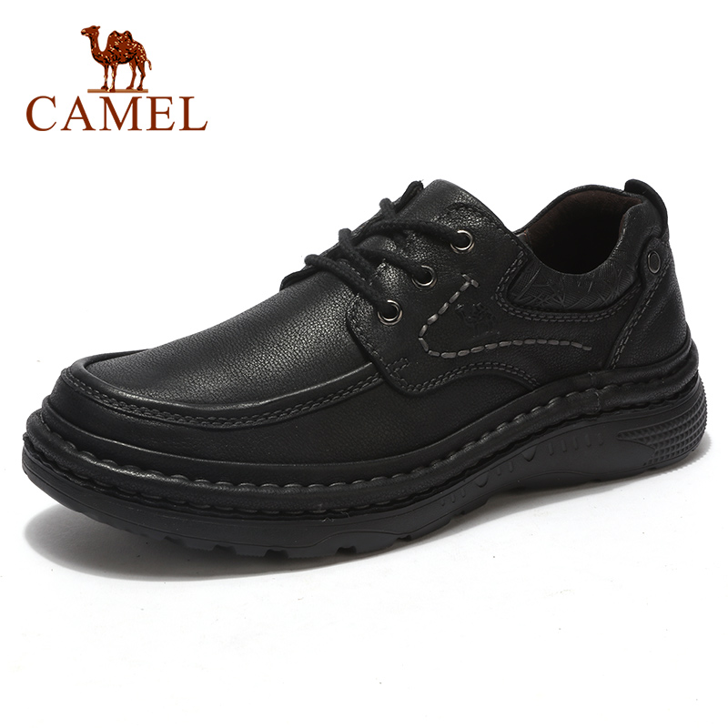 CAMEL New Outdoor Men's Casual Shoes Hand-stitched Men Shoes Retro Tooling Scrub Cowhide Non-slip Lightweight Male Footwear