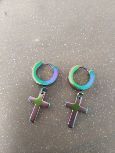 Earrings with Cross pendant photo review