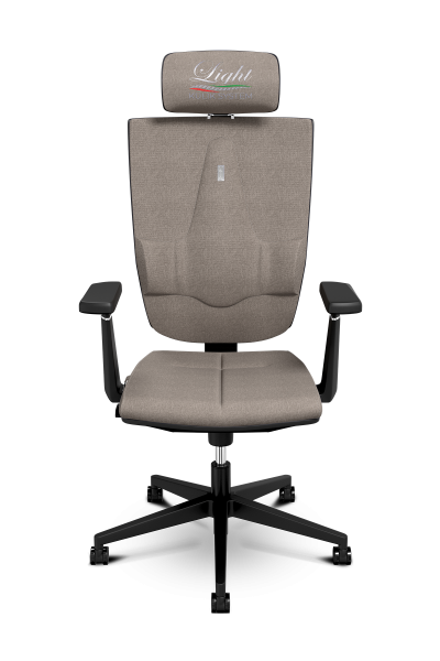 Office Chair KULIK SYSTEM SPACE Silver Computer Chair Relief And Comfort For The Back 5 Zones Control Spine