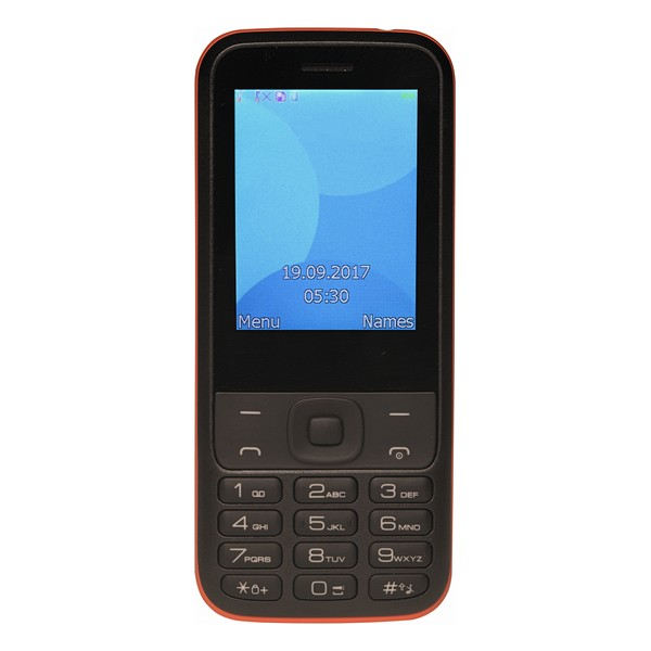 "Mobile telephone for older adults Denver Electronics FAS 24100M 2 4"" Dual SIM Bluetooth Black