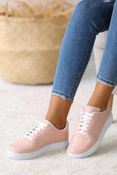 Różowe buty w proszku Potin A1603-20Pudra tanie i dobre opinie Pembe Potin Oksfordzie TR (pochodzenie) Sztuczna skóra Gumką Pasuje prawda na wymiar weź swój normalny rozmiar Na co dzień