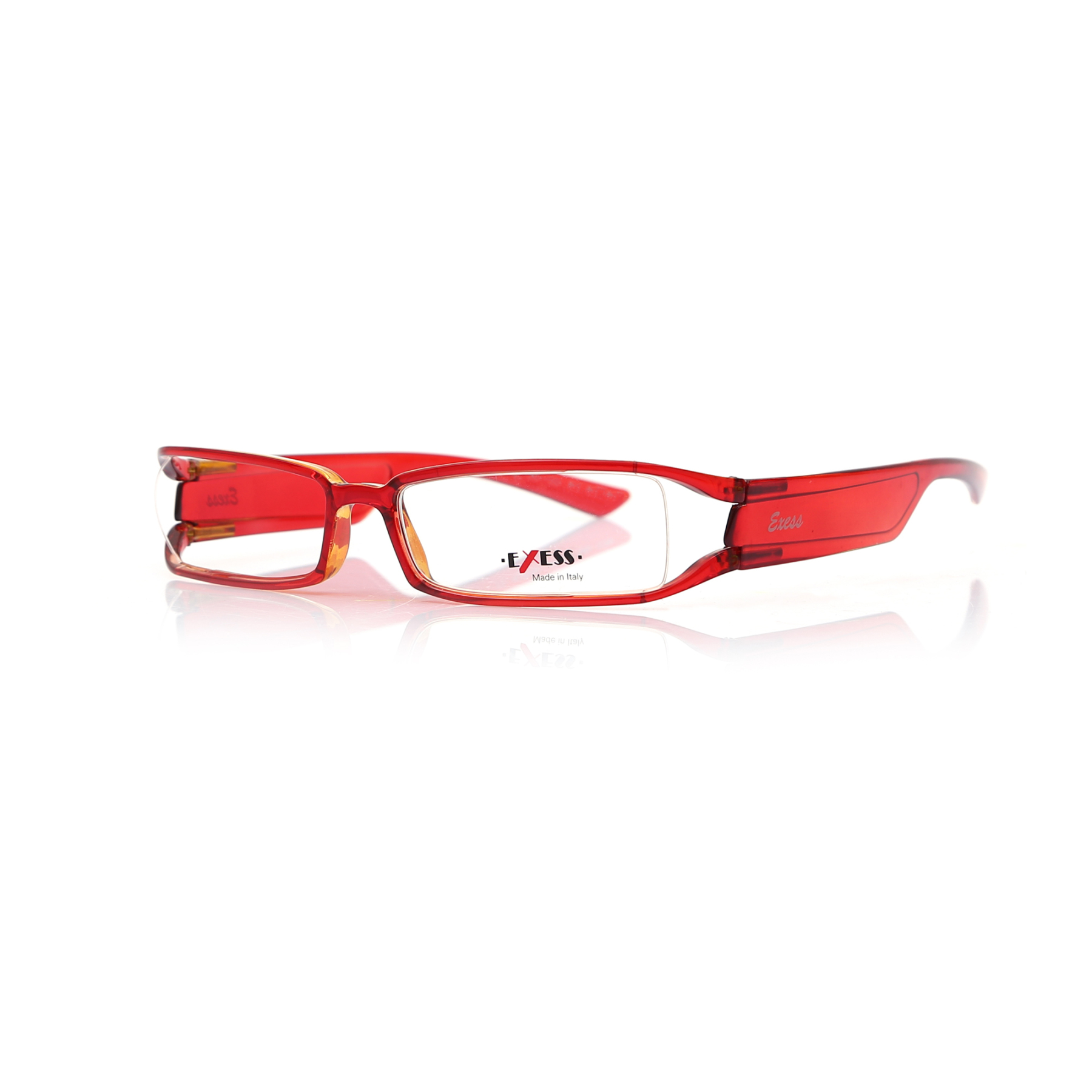 Markamilla Women Reading Glasses RedRectangle Frame Demo Glasses Eyewear Transparent High Quality WomenExess E 497 1633 55-15