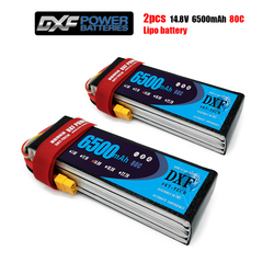 2PCS DXF 7.4V 11.1V 14.8V LiPo Battery 2S 3S 4S 5200mAh 6200mAh 6500mAh 50C 80C 100C 160C for Rc Helicopter RC Car Boat truck