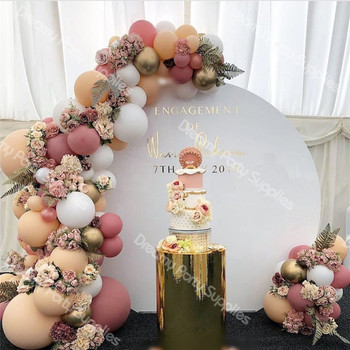 171pcs DIY Retro Dusty Pink Peach Balloon Garland Arch Kit Gold White Balloon for Birthday Baby Shower Weddings Party Decoration