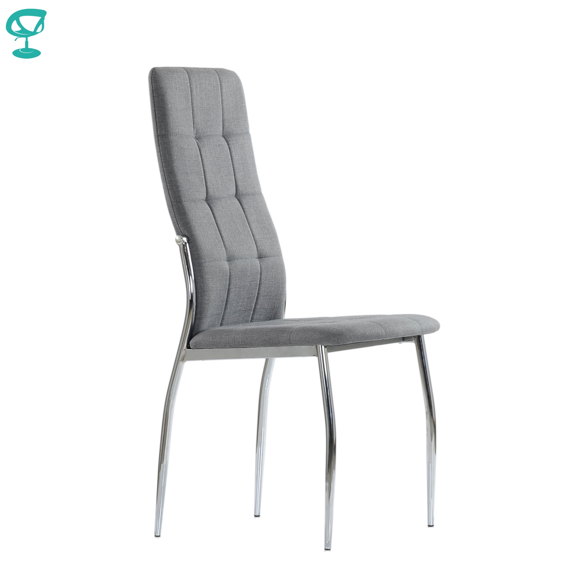 95728 Barneo S-68 chair table soft сидением light gray fabric chair kitchen chair for coffee shop chair for restaurant legs chrome