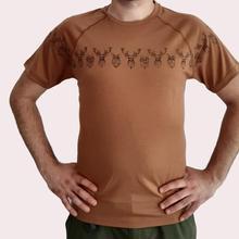 Мужской из шерсти мериноса Футболка Мужской Топ вязаный короткий рукав термический базовый слой Джерси тройник коричневый цвет