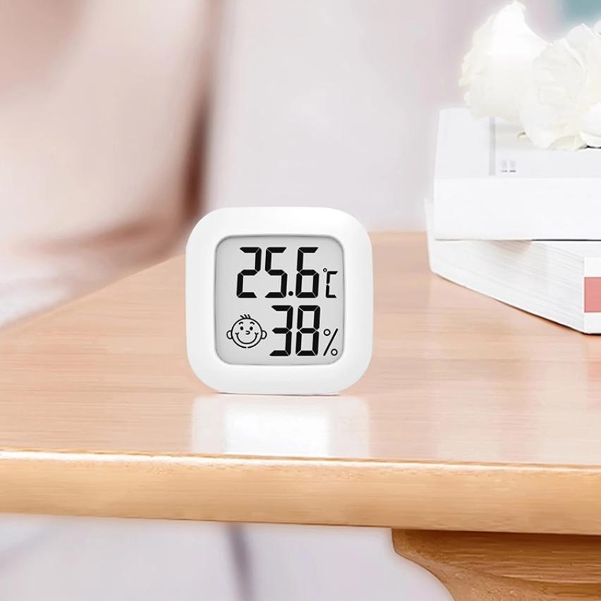 Цифровой термометр-гигрометр с ЖК-дисплеем, миниатюрный внутренний Измеритель температуры и влажности, комнатный термометр, сенсорный мон...