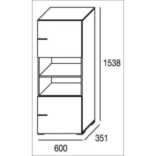 Mueble de salón completo, color blanco y grafito, muebles de TV, apilables ref-191 4