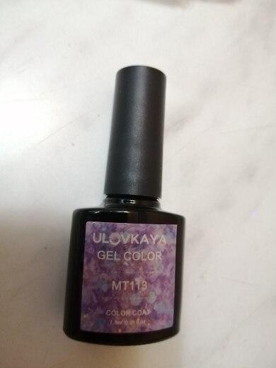 ULOVKAYA Sequins Gel Nail Polish Set Colors Semi-permanent Enamels UV LED Gel Varnish For Manicure Glitter Nail Art Gel Lacquer reviews №1 664965