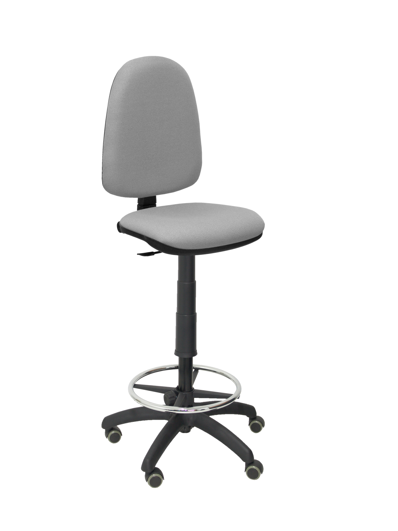 Stool Ergonomic With Permanent Contact's House Mechanism, Dimmable In High Altitude, Hoop Foot Pegs & Wheels Parquet ASI