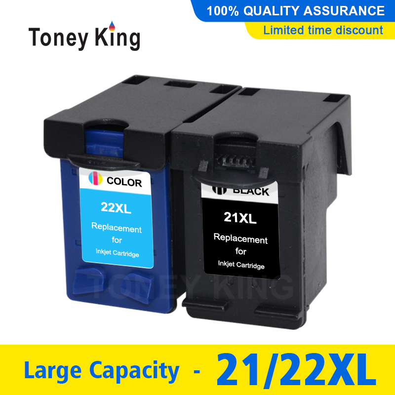 Toney King <font><b>21</b></font> <font><b>22</b></font> Printer <font><b>Cartridge</b></font> for HP21 for <font><b>HP</b></font> <font><b>21</b></font> xl for ink <font><b>cartridge</b></font> Deskjet F2180 F2200 F2280 F4180 F300 F380 380 D2300 image