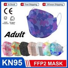 Fish KN95 – masque facial de protection FFP2, FFP3, filtre anti-poussière, réutilisable, pour adultes