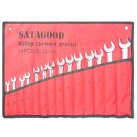 SATAGOOD screwdriver set 14 in 1 organizers 8 24 mm precision torx screw driver Bits Repair set of tools Car Tool Kit Hand tools