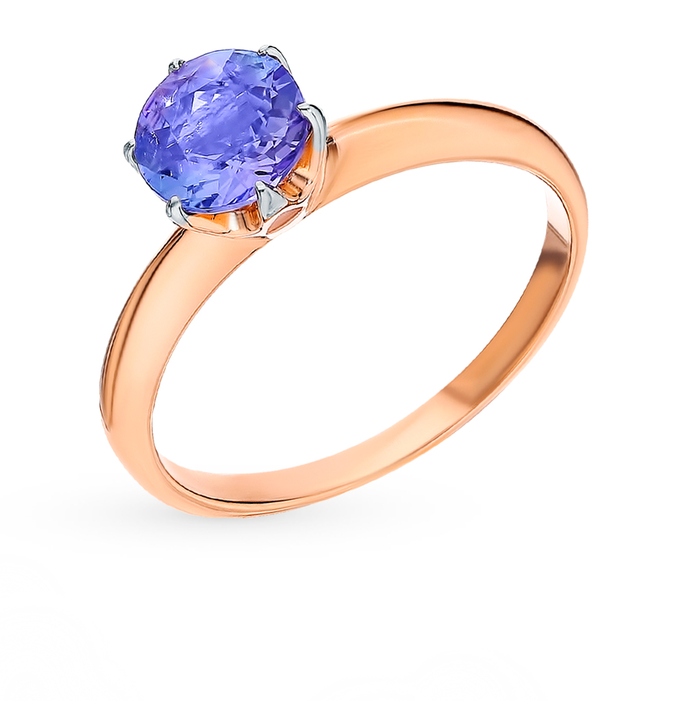 Gold Ring With Tanzanite Sunlight Sample 585