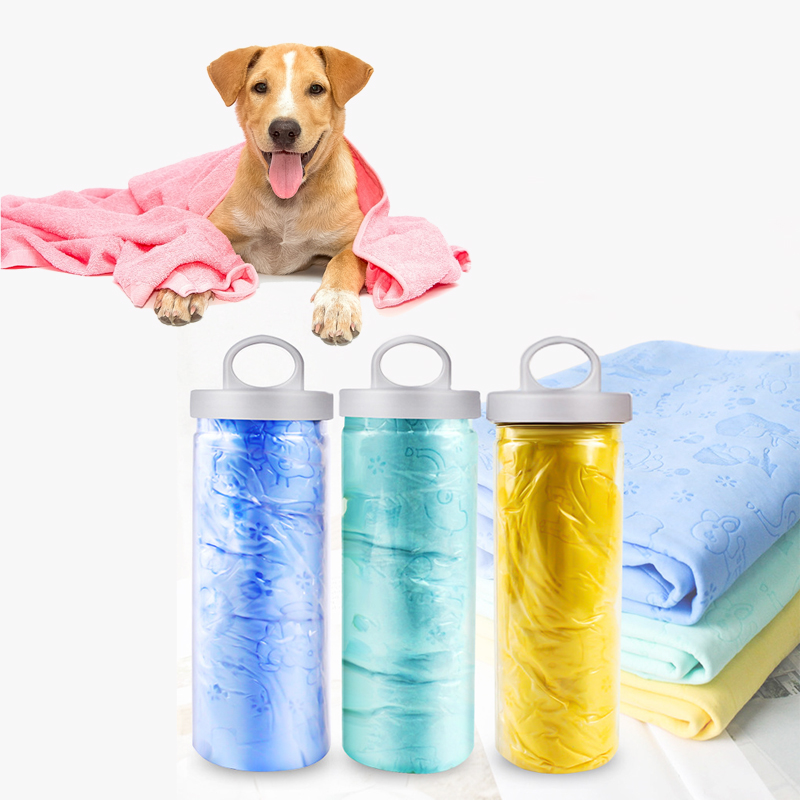 Pet Towel Dog Towel Quick Dry Super Absorbent PVA Bath Chamois Great for Dogs and Cats Easy Clean Bath Towel Cloth Portable in Dog Towels from Home Garden