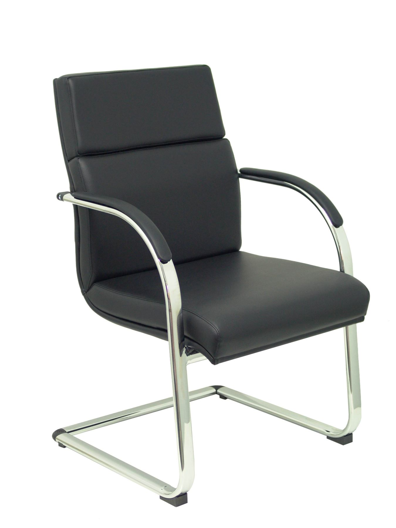 Chair Ergonomic Office Confidant/standby Structure Chrome Upholstered Arms-Seat And Back Upholstered