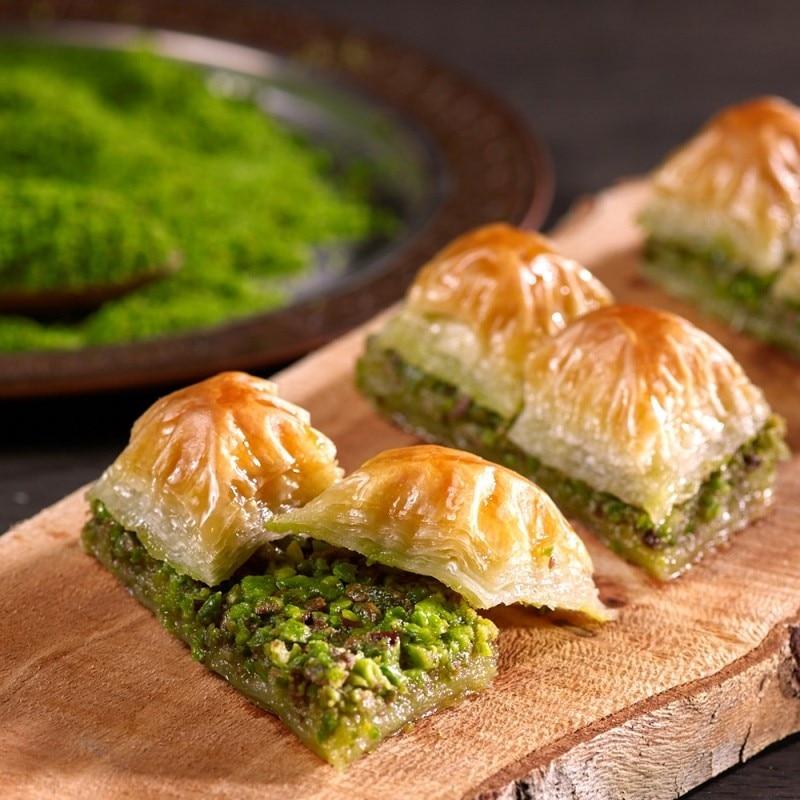 Baklava, Long-Lasting Dry Turkish Baklava With Pistachio Daily Fresh Pastry