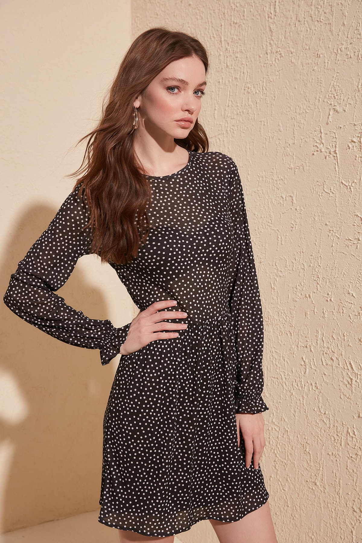 Trendyol Polka Dot Knitted Dress TWOSS20EL1097