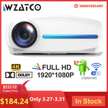 WZATCO C2 4K Full HD 1080P LED Projector Android 9.0 Wifi Sm