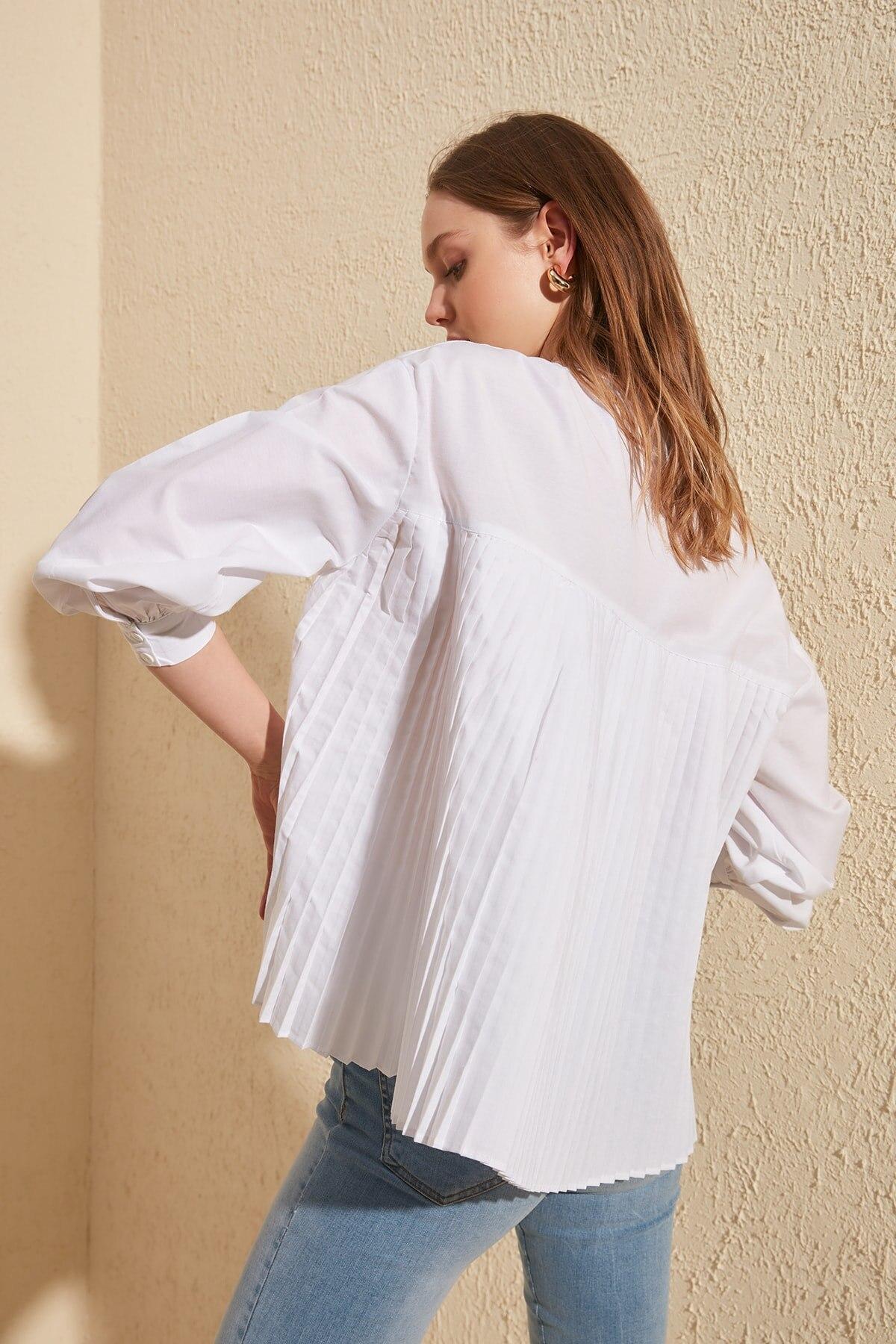 Trendyol Ruffle Detail Shirt TWOSS20GO0275