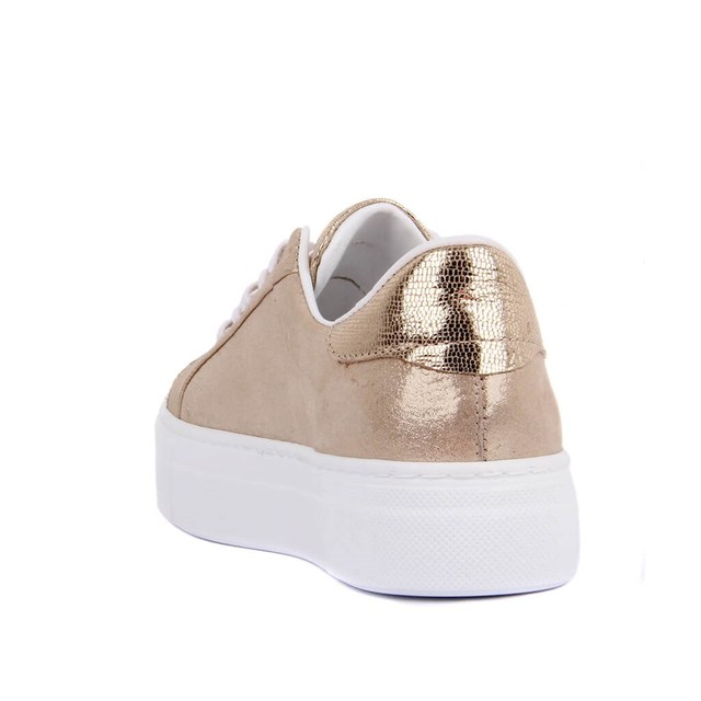 Sail Lakers- Silvery Leather Women's Sneaker